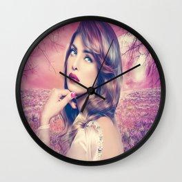 Noite rosa Wall Clock