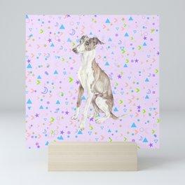 Italian Greyhound Watercolor Pet Portrait Mini Art Print