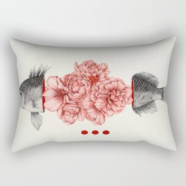 Speechless as a fish Rectangular Pillow