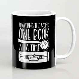 Traveling the World One Book at a Time V2 (Inverted) Coffee Mug