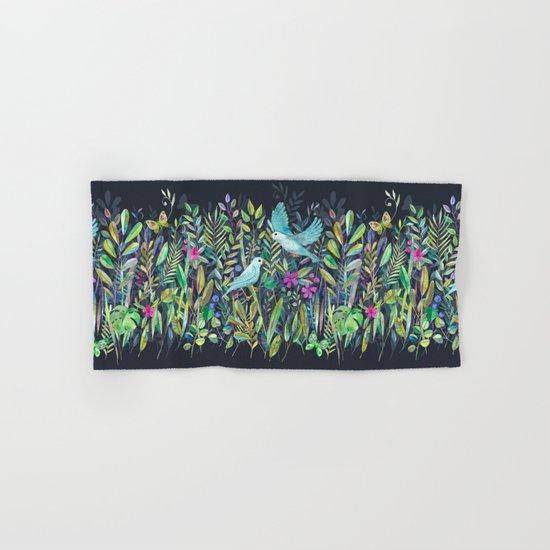 Little Garden Birds in Watercolor Hand & Bath Towel