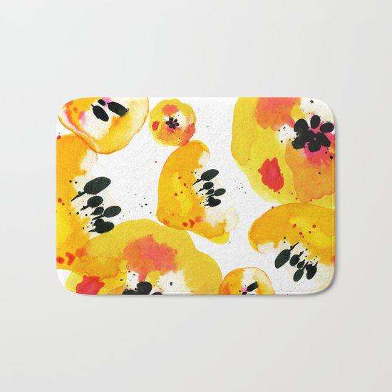 Water Flowers Bath Mat