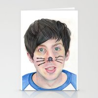 phil jones Stationery Cards featuring Phil by Beth Mellett