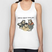beastie boys Tank Tops featuring Where The Beastie Things Are by Derek Salemme