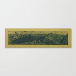 Sea Life Etching - Sepia Canvas Print
