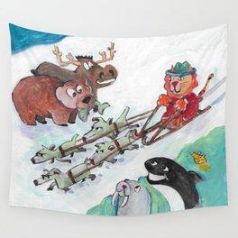 Alaska Cats Wall Tapestry