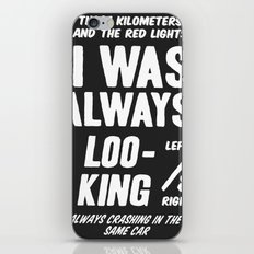 Bowie - Always Crashing in the Same Car iPhone & iPod Skin