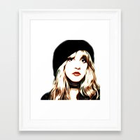 stevie nicks Framed Art Prints featuring Stevie Nicks - Rhiannon - Pop Art by William Cuccio aka WCSmack