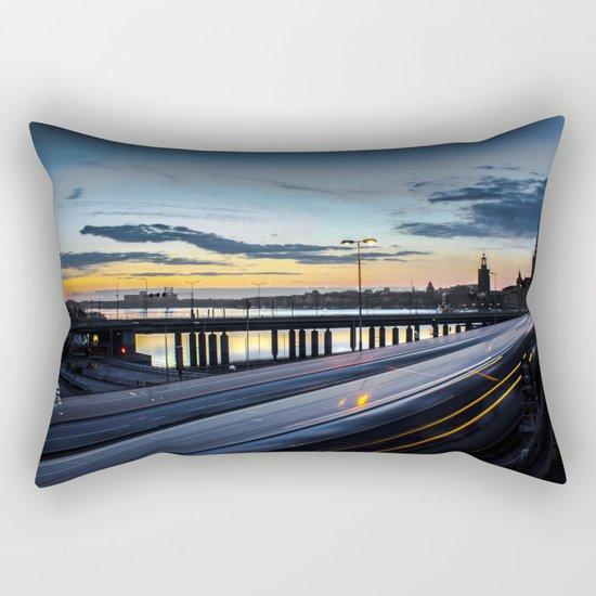 Stockholm Night - Slussen Rectangular Pillow