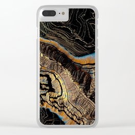 Golden Canyons Clear iPhone Case