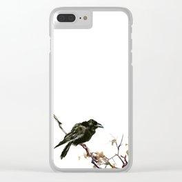 Raven, Raven art, Raven Design, Crow painting Clear iPhone Case