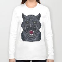 panther Long Sleeve T-shirts featuring Panther by ArtLovePassion