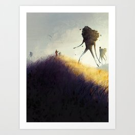 The Earth Giants Art Print