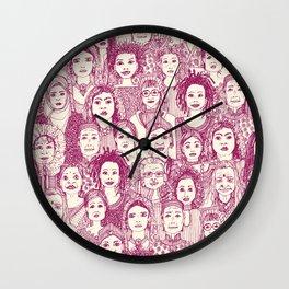 WOMEN OF THE WORLD CHERRY Wall Clock