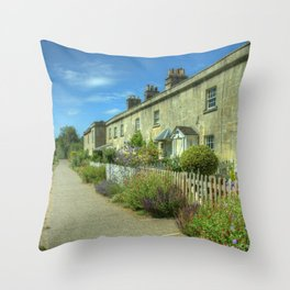 Bathampton Canal Cottages Throw Pillow