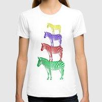 popart T-shirts featuring Zebra PopArt by Monika Juengling