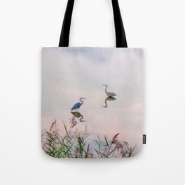 The Lake at Dusk Tote Bag