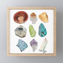 Illuminated Structure: Mineral Rainbow Framed Mini Art Print