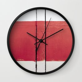 White Red White Wall Clock