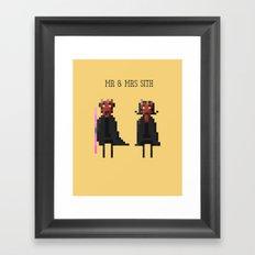 Mr & Mrs Sith Framed Art Print