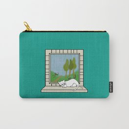 Plenty of imagination: a cat wants to run. Carry-All Pouch