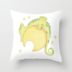 dragon & moon Throw Pillow
