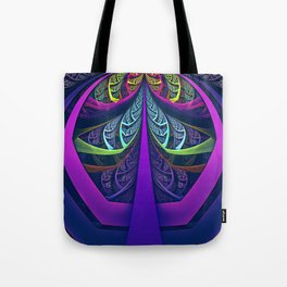 An UltraViolet Black Light Rainbow of Glass Shards Tote Bag