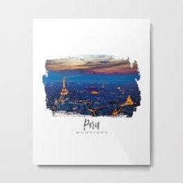 Paris City of lights Metal Print