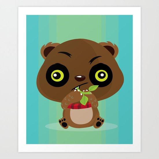 Beary hungry Art Print