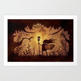 Silhouette Hero Art Print