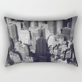 New York City Skyline, Empire State Building, fine art photo, nyc, wall decoration, b&w Rectangular Pillow