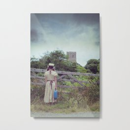 travelling in the country side Metal Print