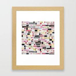 Lipstick War Framed Art Print
