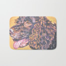 American Water Spaniel dog portrait from an original painting by L.A.Shepard Bath Mat