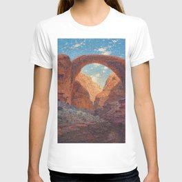 Rainbow Bridge, Glen Canyon, Utah Landscape Painting by William R. Leigh T-shirt