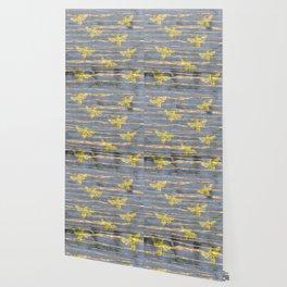 Golden Bees Wallpaper