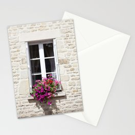 Window Flowers in France Stationery Cards
