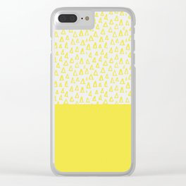 Triangles yellow Clear iPhone Case