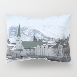 Long Blue Winter Pillow Sham