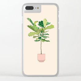 Fiddle Leaf Fig Clear iPhone Case