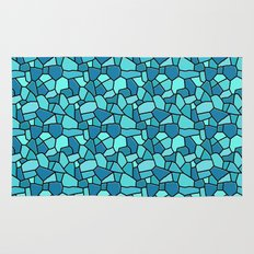Stained Glass Blue Rug
