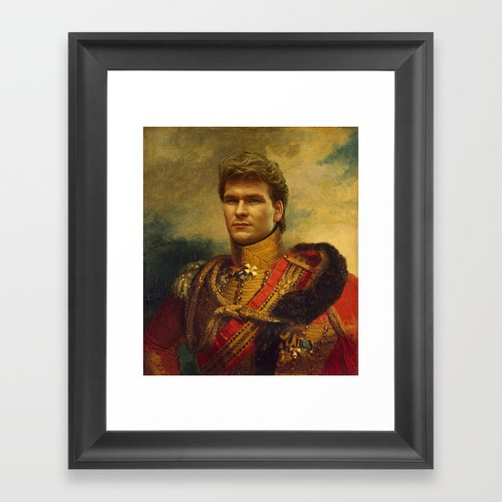 Patrick Swayze - replaceface Framed Art Print