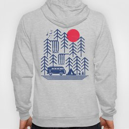 Camping Days / Van nature minimal birds sun Hoody