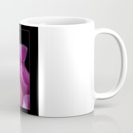 Pink Foxgloves on Black Coffee Mug