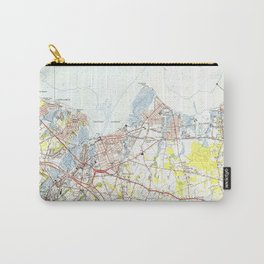 Keyport, Union Beach & Keansburg NJ Map (1954) Carry-All Pouch