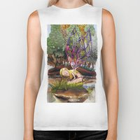 fairy Biker Tanks featuring Fairy by Jose Luis Ocana