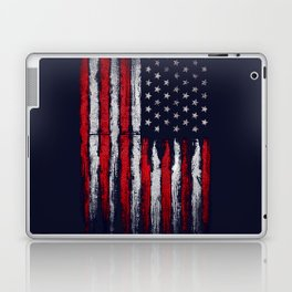 Red & white American flag on Navy ink Laptop & iPad Skin