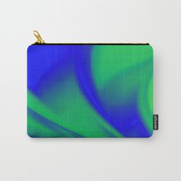 Blue and Green  Flush Fractal Carry-All Pouch