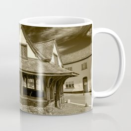 Dunster Yarn Market in Sepia Coffee Mug