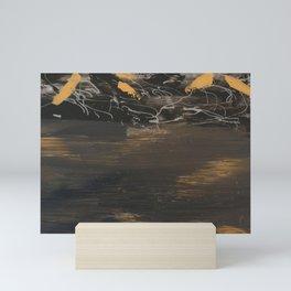 Gold & Silver in the rough Mini Art Print